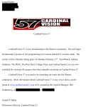 The CardinalVision station underwent some serious changes. Before the logo redo and rebranding of the station was complete, our station manager was able to have the station broadcast beyond Ball State's campus limits.