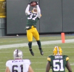 Here I capture the interception that essentially ends the game for the Packers. This time, Sam Shields allows the Packers to kneel their way to 13-0.