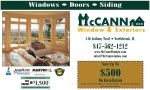 McCann Window & Exteriors Mailer piece